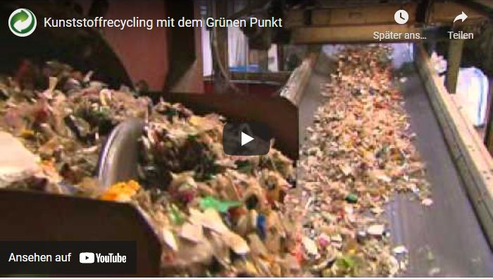Einführung grüner Punkt Entsorgungshinweise
